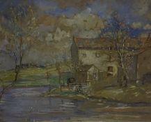 "Agnes Raeburn RSW (1872-1955) ""Borders Mill"" Watercolour, signed lower right, 31 x 41cm, framed"