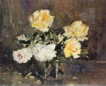 """J.Miller (Scottish) """"Still Life of Flowers """" Watercolour, signed lower right, 36 x 46cm, framed"""