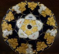 A Continental Porcelain Bowl, In the Meissen style, Decorated with gilded leaf pattern panels on a