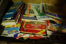 A Quantity of English Football Programmes, circa 1970s, 80s, approximately 100 in total