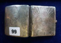 A Silver Cigarette Case, Hallmarks for Birmingham, 8cm wide, 3.150 oz