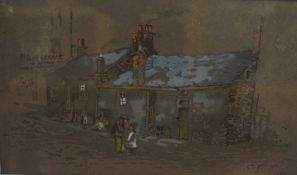 """Charles Gustav Louis Phillips (1864-1944) """"No 73 Blackscroft Dundee"""" Watercolour, signed and dated"""