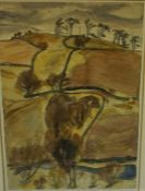 """Sir William George Gillies CBE RSA ARA PRSW (1898-1973) """"Winter Landscape"""" Watercolour, signed and"""