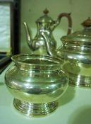A Silver Plated Five Piece Tea Service, (5)