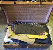 A Quantity of Sundry Wearing Aparel, Enclosed in a vintage travel trunk