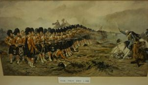 """After Robert Gibb """"The Thin Red Line"""" Framed Print, 33 x 66cm, also with a similar framed print, and"""