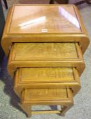 A Nest of Four Chinese Style Tables, 60cm high, (4)