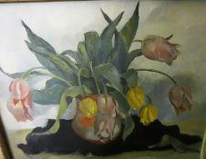 "Ella Griffin (British) ""Still Life"" Oil on Canvas, signed lower right, 44 x 54cm, framed, also"