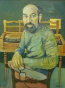 """Jim Boyle (Scottish) """"Portrait of Lionel Gliori"""" Oil on Board, 54 x 41cm, artist information to"""