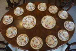 A Hammersley for Longton China Tea Set, circa early 20th century, To include biscuit plates, cups