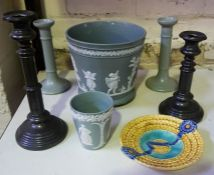 A Mixed Lot of Victorian and Later Pottery and Collectables, To include a relief moulded