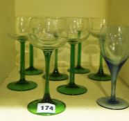 A Large Quantity of Crystal and Glass Wine, Liqueur and Hock Glasses, Also to include champagne
