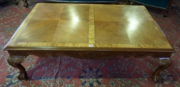 A Large Chippendale Style Coffee Table, 20th century, Raised on ball and claw feet, 40cm high, 139c