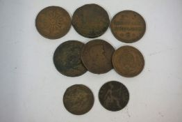 A Quantity of 19th Century and Later British and Continental Coins and Tokens, Mainly copper