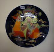A Rosenthal Porcelain Wall Plate, Designed by Bjorn Winblad, 33cm diameter
