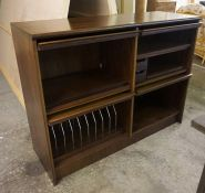 A Mid Century Danish Rosewood Veneered Stereo Unit by Cado, Designed by Paul Cadovius, With pull