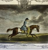 Two Victorian Sporting Prints of Horse and Rider, Bearing a crest to the top, 22cm x 29.5cm, framed,