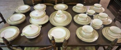 A Large Art Deco Losol Ware for Keeling & Co Dinner set by Burslem, 79 pieces