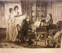 """Sheridan at the Linley,s"" Print, 39cm x 52cm, in a heavy oak frame"