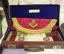 A Masonic Apron, For Thomas Sweeney of Fisherrow, no 112, in fitted case