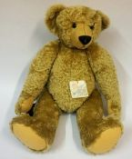 A Large Mohair Teddy Bear by Beccles Bears, No 1 of a limited edition number of 6, having glass