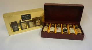 A Whisky Miniature Gift Set by Gordon & MacPhail, To include a Linkwood 15 year old, a Mortlach 15