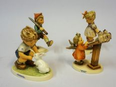 """Eight Modern Hummel Figures, To include """"Private Conversation"""", """"Will it Sting"""" """"Bird Duet"""" ect,"""