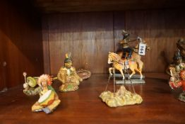 Elastolin Hausser (W.Germany) A Mixed Group of Composition Painted Model Figures of Native
