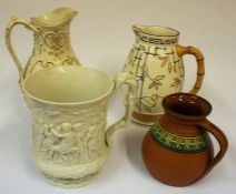 A Charles Meigh Victorian Relief Moulded Tankard, With allover panels of Classical male, female