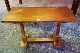 A Refectory Style Occasional Table, 49cm high, 75cm wide