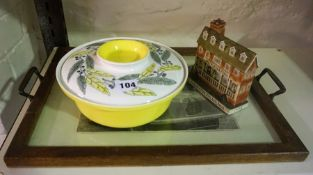 A Poole Tableware Tureen, 22cm wide, also with a model of a Tun Tavern, stamped for U.S. Marine