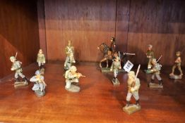 Elastolin Hausser (W.Germany) A Set of WWII Composition Painted Model Figures, (15)