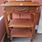 A Late Victorian Display Stand/What Not, Previously used as a naval display stand, with an open