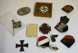 A Mixed Lot of Nazi Related Badges, To include a WW1 example, the others are mainly Reproduction, (