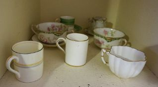 A Mixed Lot of China Cabinet Cups and Saucers, To include a coffee can and tea cup by Foley, also