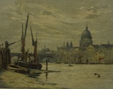 """Claude H Rowbotham """"London from St Paul,s from Southwark"""" Original signed Aquatint, signed in pencil"""