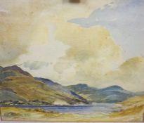 "Thomas Gordon (Scottish) ""Mountain and Loch Scene"" Watercolour, signed T.Gordon to lower left,"