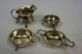 A Silver Cream Jug, Hallmarks For Hamilton & Inches Edinburgh, 7cm high, also with a small silver