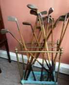 A Quantity of Antique Hickory Shafted Golf Clubs, To include a Super Mashie Niblick short iron by
