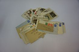 A Mixed Lot of Vintage Postcards and Ephemera, To include unfranked British stamps, circa 1930s,