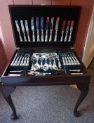 A Part Table Canteen of Silver Plated Queens Pattern Cutlery, Approximately 75 pieces in total