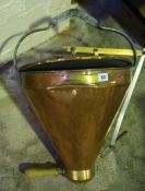 An Antique Copper and Brass Filling Station by Roberts Patent of Bolton, circa late 19th century,