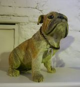 A Large Modern Figure of a Bulldog, 31cm high, also with a Contemporary Sculpture on Stand, 60cm