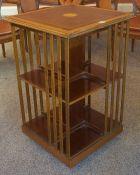 A Victorian Style Revolving Bookcase, 20th century, 79cm high, 50cm wide