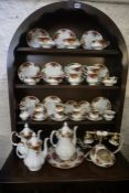 A Quantity of Royal Albert Old Country Roses Tea and Coffee Wares, To include a telephone, 39