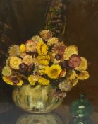 "Continental School ""Still Life of Flowers in Vase"" Oil on Board, unsigned, 51cm x 43cm, also with an"