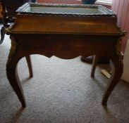 A French Kingwood and Marquetry Inlaid Jardiniere Table, circa 19th century, Decorated with inlaid