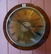 A Mahogany Cased Fusee Wall Clock by Millidge & Son Edinburgh, circa 19th century, Having a brass