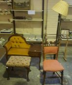 A Mixed Lot of Occasional Furniture, To include a vintage towel rail, a telephone table, floor lamp,