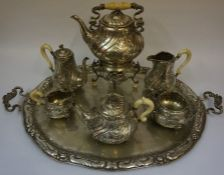 An Austro-Hungarian Seven Piece Silver Tea and Coffee Set, circa late 19th / early 20th century,